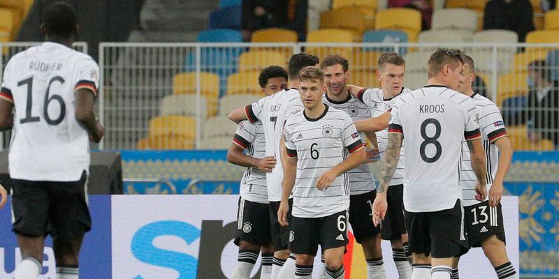 Alemania derrotó a Ucrania en la Nations League