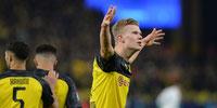 Doblete de Haaland para la victoria de B. Dortmund ante PSG
