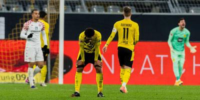 Borussia Dortmund tropezó ante el colista