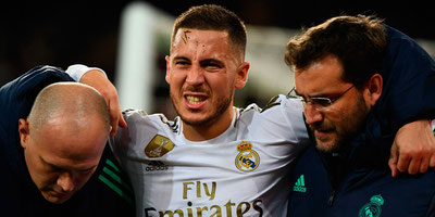 Eden Hazard baja un mes en Real Madrid